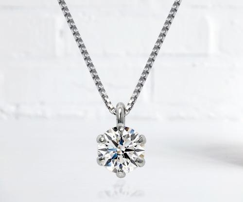 一粒ダイヤモンドネックレス