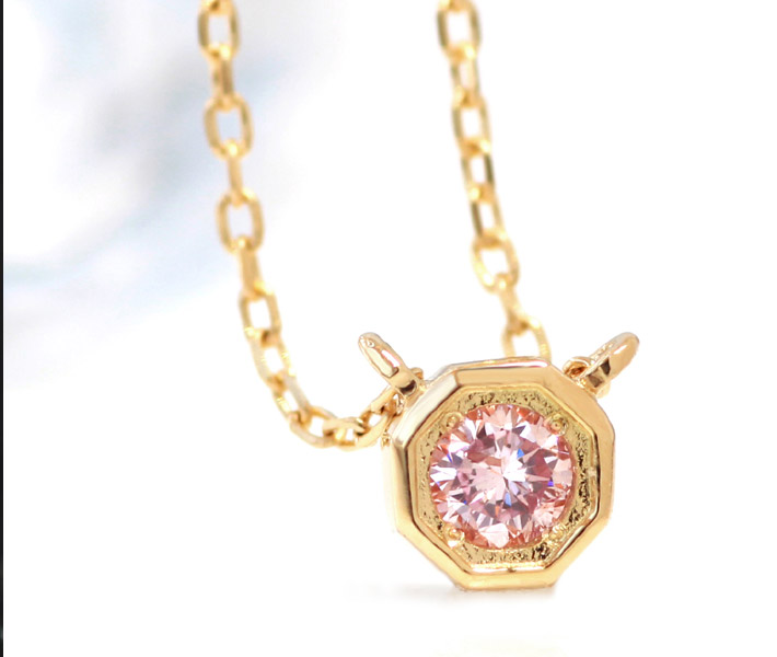 ピンクダイヤネックレス